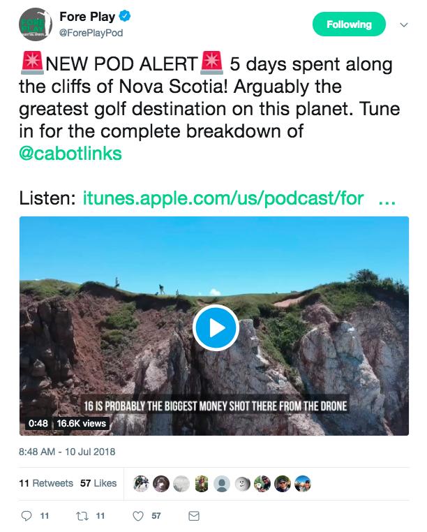 Foreplaypod podcast tweet