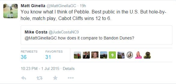 Matt Ginella tweet
